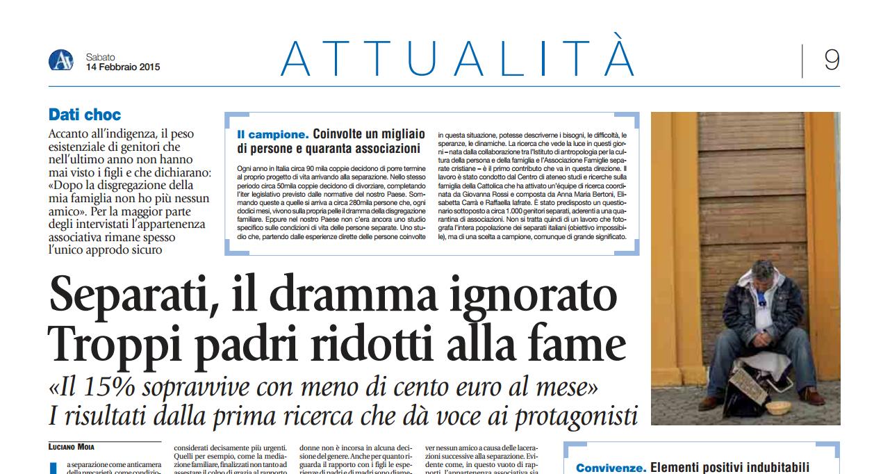 Dossier Avvenire: Padri Separati, Il Dramma Ignorato